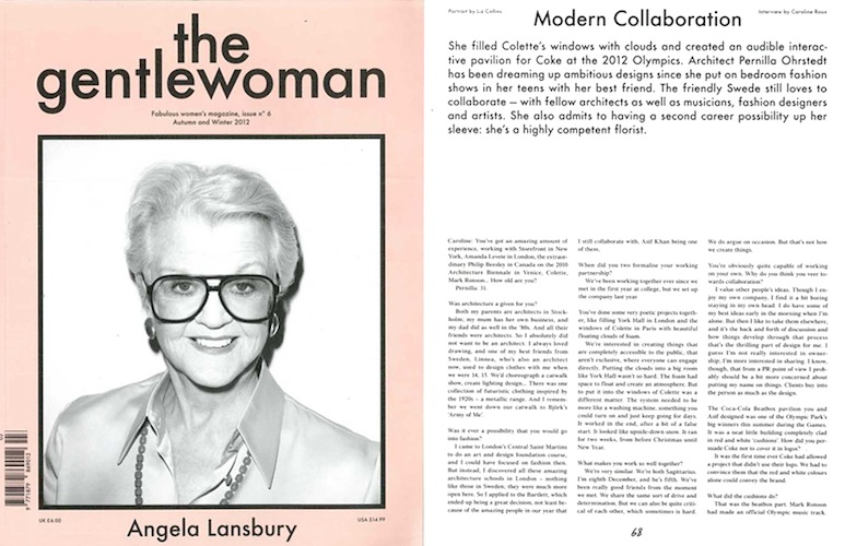 The Gentlewoman, Autumn/Winter 2012